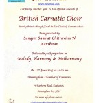 British Carnatic Choir at Birmingham Chamber of Commerce
