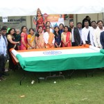 Biggest Handwowen Indian Flag Unvellied in London Independence Celebrations (3)